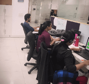 People working in qualitrix