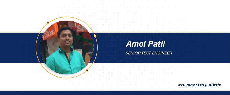 Amol Patil - Senior test engineer